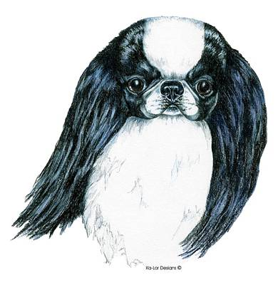 Japanese Chin Poster by Kathleen Sepulveda