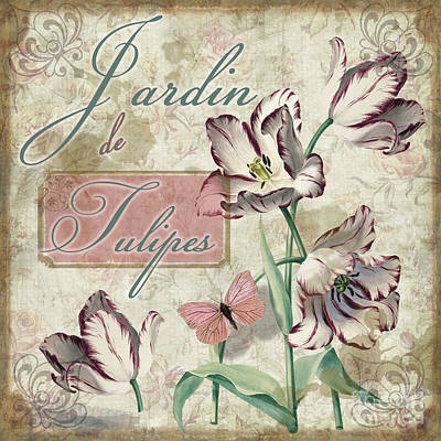Jardin De Tulipes Poster by Mindy Sommers