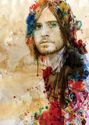 Jared Leto Watercolor Poster by Marian Voicu