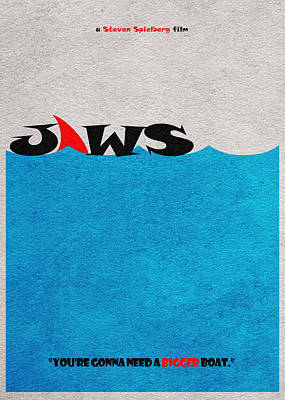 Jaws Poster by Ayse Deniz