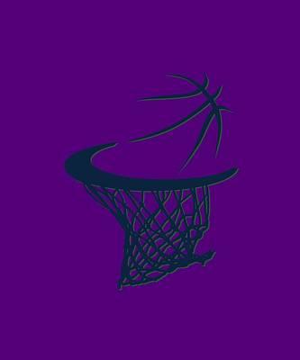 Jazz Basketball Hoop Poster by Joe Hamilton