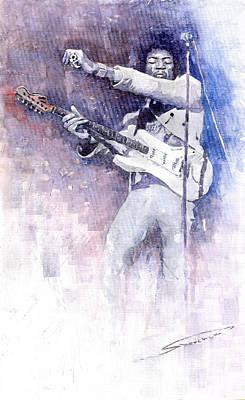 Jazz Rock Jimi Hendrix 07 Poster by Yuriy  Shevchuk