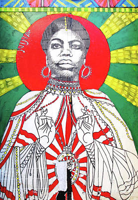 Jazz Saint Poster by Ethna Gillespie