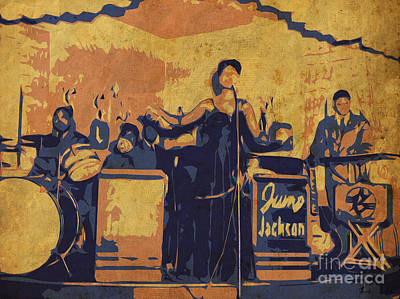 Jazz Singer Poster by Pablo Franchi