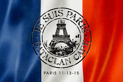 Je Suis Paris Poster by Gary Grayson