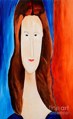 Jeanne Hebuterne- Tribute To Modigliani  Poster by Art by Danielle