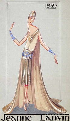 Jeanne Lanvin Design, 1927 Poster by Science Source