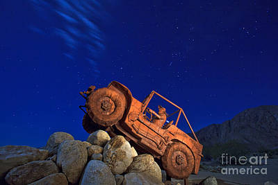 Jeep Adventures Under The Night Sky In Borrego Springs Poster by Sam Antonio Photography