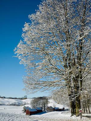 Jenne Farm Winter In Vermont Poster by Edward Fielding