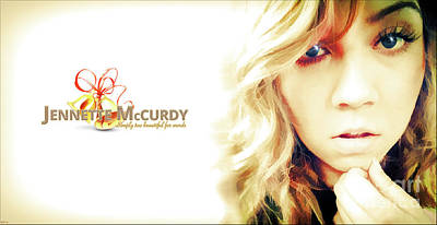 Jennette Mccurdy - Christmas Gem Poster by Robert Radmore