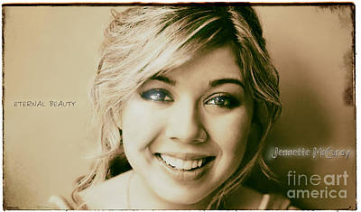 Jennette Mccurdy - Eternal Beauty Poster by Robert Radmore