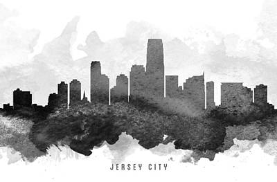 Jersey City Cityscape 11 Poster by Aged Pixel