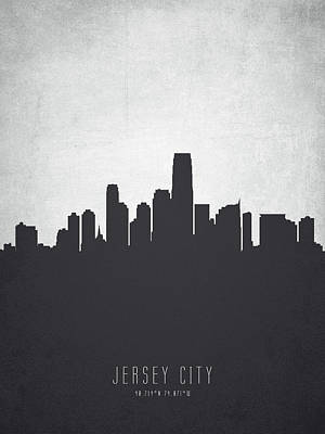 Jersey City New Jersey Cityscape 19 Poster by Aged Pixel