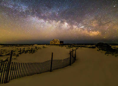 Jersey Shore Starry Skies And Milky Way Poster by Susan Candelario