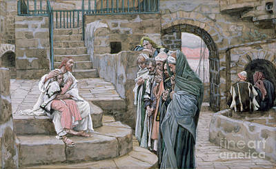 Jesus And The Little Child Poster by Tissot