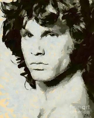 Jim Morrison Poster by Dragica Micki Fortuna