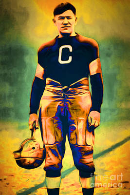 Jim Thorpe Vintage Football 20151220 Poster by Wingsdomain Art and Photography