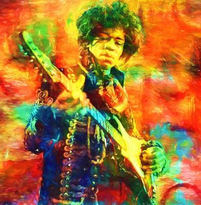 Jimi Poster by Dan Sproul