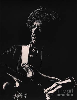 Jimi Hendrix Poster by Kathleen Kelly Thompson
