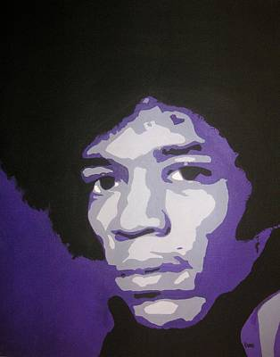Jimi Poster by Rock Rivard