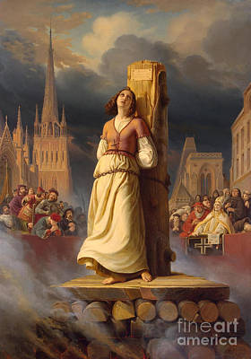 Joan Of Arc's Death At The Stake Poster by Hermann Anton Stilke