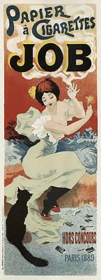 Job Cigarette Papers - Paris 1889 Poster by Daniel Hagerman