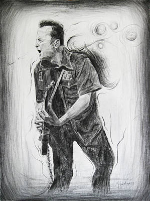Joe Strummer's Dream Poster by Michael Morgan