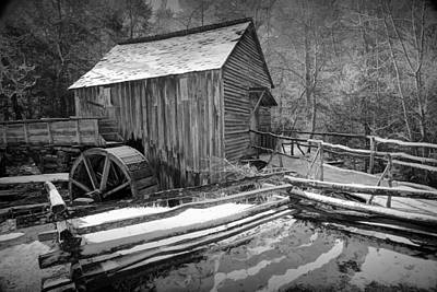 John Cable Gristmill In Cade's Cove The Great Smokey Mountains Poster by Randall Nyhof
