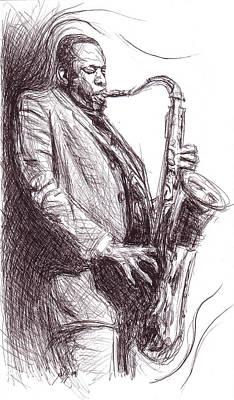John Coltrane 1 Poster by Michael Morgan