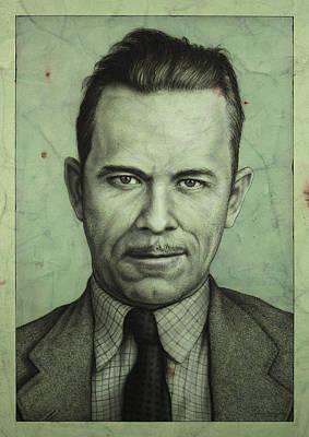 John Dillinger Poster by James W Johnson