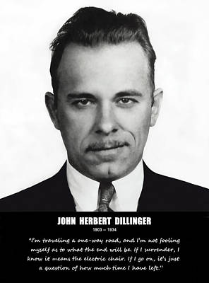 John Dillinger -- Public Enemy No. 1 Poster by Daniel Hagerman