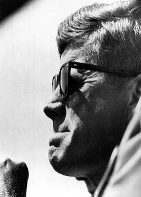 John F. Kennedy, Watches Poster by Everett