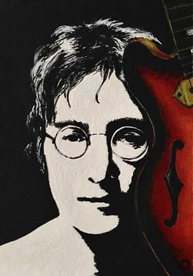 John Lennon Poster by Lena Day