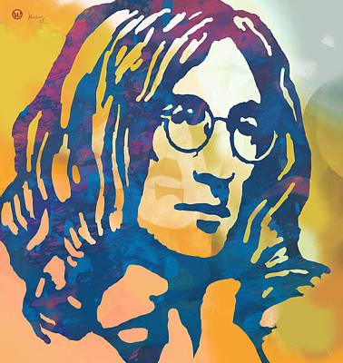John Lennon Pop Art Poster Poster by Kim Wang
