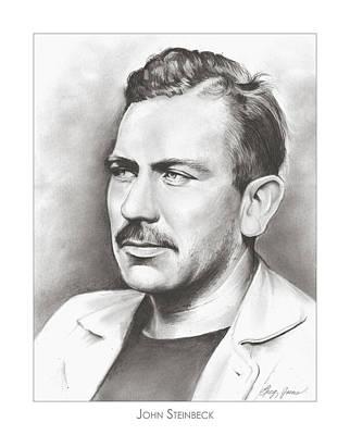 John Steinbeck Poster by Greg Joens