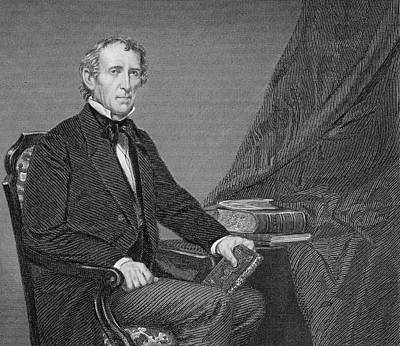 John Tyler 1790 To 1862. 10th President Poster by Vintage Design Pics
