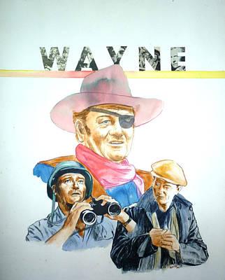 John Wayne Poster by Bryan Bustard