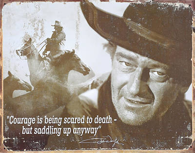 John Wayne - The Duke Poster by Donna Kennedy