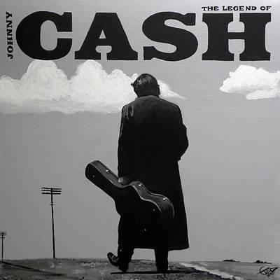 Johnny Cash Poster by Tom Carlton