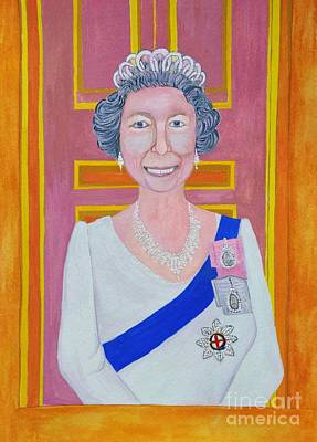 Jolly Good Your Majesty Poster by Reb Frost