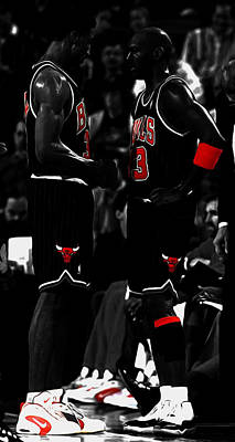 Jordan And Pippen Poster by Brian Reaves