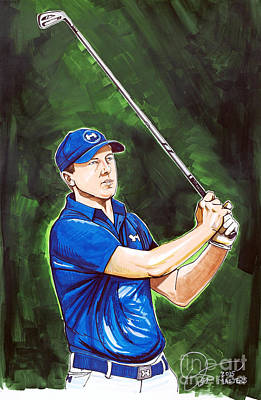 Jordan Spieth 2015 Masters Champion Poster by Dave Olsen