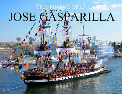 Jose Gasparilla Pirate Ship Fc Work Poster by David Lee Thompson