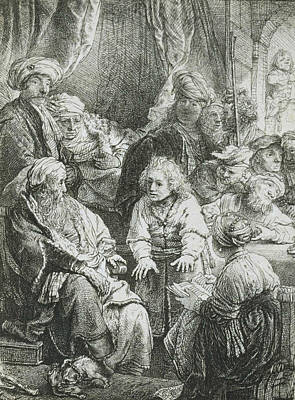 Joseph Telling His Dreams Poster by Rembrandt