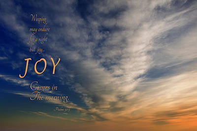Joy Comes In The Morning Poster by Mary Jo Allen