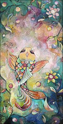 Joyful Koi I Poster by Shadia Zayed