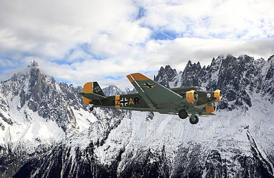 Ju52 - Alpine Passage Poster by Pat Speirs