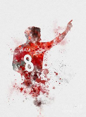 Juan Mata Poster by Rebecca Jenkins