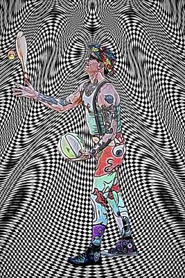 Juggler Vortex Poster by John Haldane