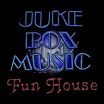 Juke Box Neon Poster by David and Carol Kelly